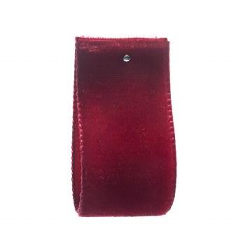 Dark Red Single Sided Velvet Ribbon 22 mm