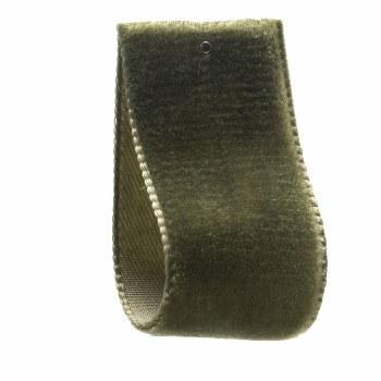Hellebore Green Single Sided Velvet Ribbon 22 mm