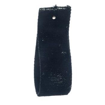 Black Stretch Velvet Ribbon 16 mm