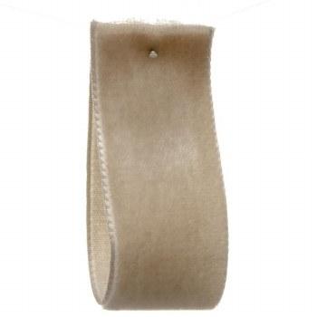 Barley Dust Single Sided Velvet Ribbon 50 mm