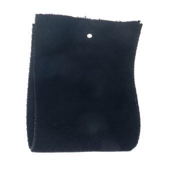 Black Single Sided Velvet Ribbon 22 mm