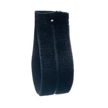 Black Fold Over Velvet Ribbon 16 mm