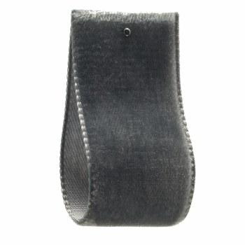 Grey Slate Single Sided Velvet Ribbon 22 mm