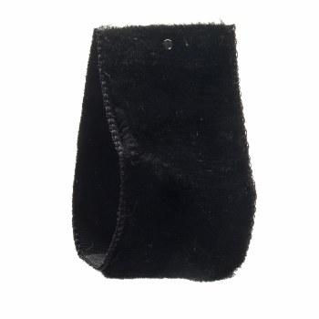 Black Crushed Velvet Ribbon 22 mm