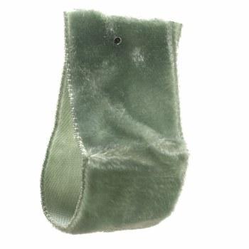 Green Slate Crushed Velvet Ribbon 22 mm