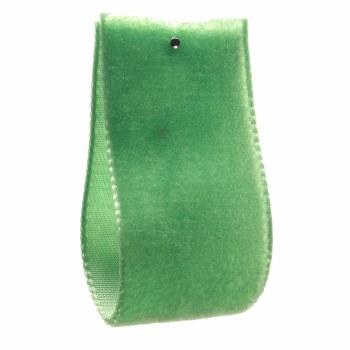 Emerald Single Sided Velvet Ribbon 5 mm