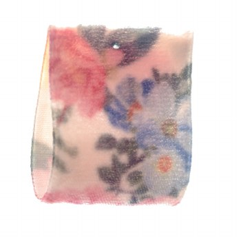 Barley Dust Floral Velvet Ribbon 36 mm