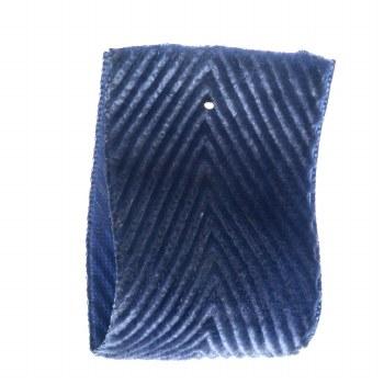 Blueberry Velvet Herringbone Ribbon 22 mm