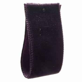 Damson Single Sided Velvet Ribbon 36 mm
