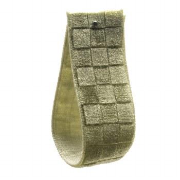 Hellebore Green Checked Velvet Ribbon 16 mm