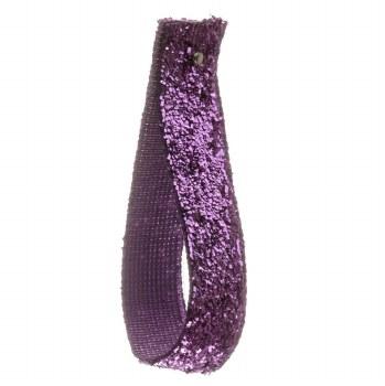 African Violet Glitter Velvet Ribbon 10 mm