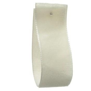 Clotted Cream Single Sided Velvet Ribbon 9 mm