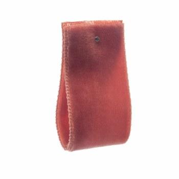 Deep Apricot Double Sided Nylon Velvet Ribbon 22 mm