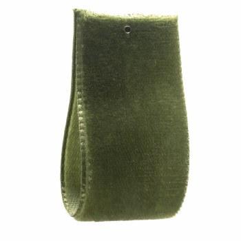 Leaf Green Single Sided Velvet Ribbon 16 mm