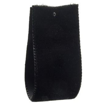 Black Single Sided Velvet Ribbon 9 mm