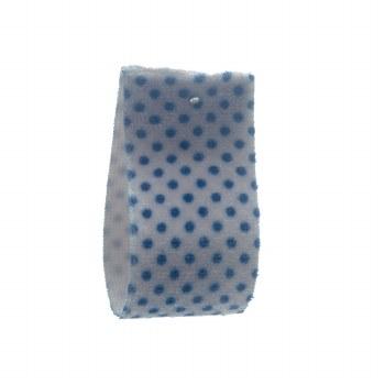 Grey Slate Stretch Dot Velvet Ribbon 22 mm