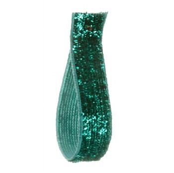 Blue Grass Glitter Velvet Ribbon 10 mm
