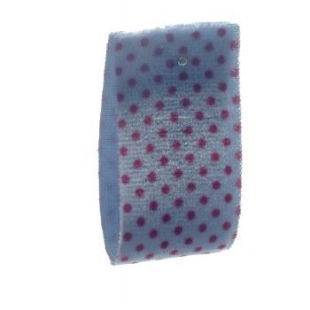 Cornflower Stretch Dot Velvet Ribbon 22 mm