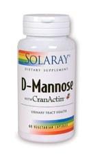 Solaray D-Mannose w Cranact 60 vegetarian capsules