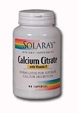 Solaray Calcium Citrate with Vitamin D 180 vegcaps