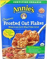 Annie's Homegrown Organic Frosted Oat Flakes Whole Grain Oat & Wheat Flake Cereal, 10.8 oz.