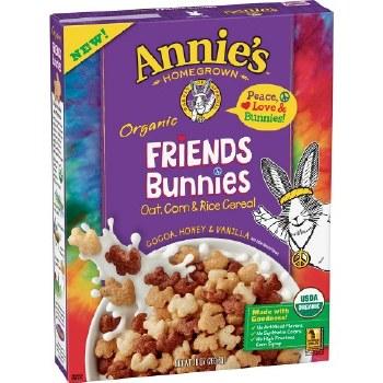 Annie's Organic Friends Cocoa, Honey & Vanilla Bunnies Oat, Corn & Rice Cereal, 10 oz.