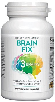 Natural Factors 3 Brains Brain Fix, 90 vegetarian capsules
