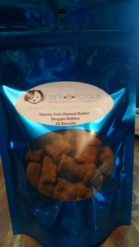 Bark-a-Licious Small Honey Oat Peanut Butter Doggie Delights, 20 ct.