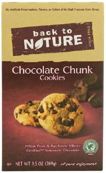 Back To Nature Chocolate Chunk Cookies, 9.5 oz.