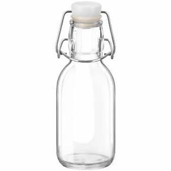 Bormioli Rocco Swing Cap Glass Bottle, 8.5 oz.