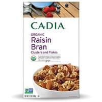 Cadia Organic Raisin Bran Clusters and Flakes, 12 oz.