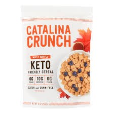 Catalina Crunch Keto Maple Waffle Cereal, 9 oz.