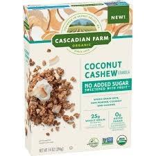 Cascadian Farms Coconut Cashew Cereal, 14 oz.