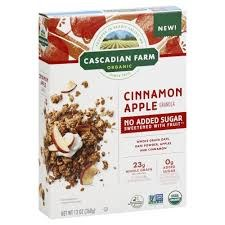 Cascadian Farms Cinnamon Apple Cereal,