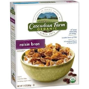 Cascadian Farms Raisin Bran Cereal, 12 oz.
