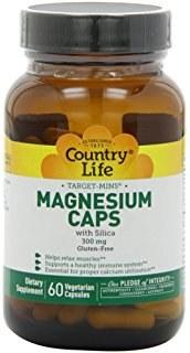 Country Life Magnesium Caps with Silica, 120 vegetarian capsules