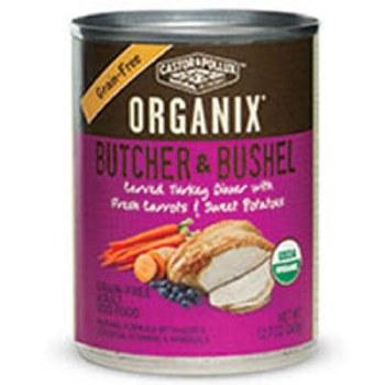 Castor & Pollux Butcher & Bushel Organic Carved Turkey Dinner with Carrots & Sweet Potatos in Gravy, 12.7 oz.