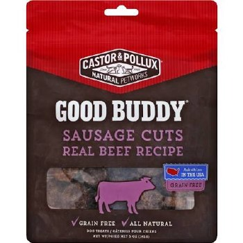 Castor & Pollux Beef Sausage Cuts for Dogs, 5 oz.