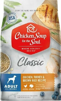 Chicken Soup For The Pet Lover's Soul Adult Classic Chicken, Turkey & Brown Rice Recipe Dry Dog Food, 28 lb.