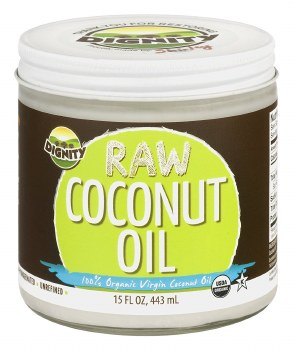 Dignity Organic Raw Coconut Oil, 15 oz.