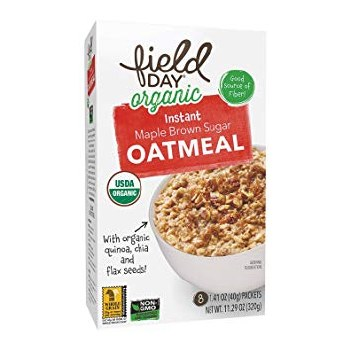 Field Day Organic Instant Maple Brown Sugar Oatmeal, 8 packets