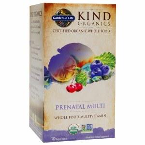 Garden of Life Kind Organics Prenatal Multivitamin, 180 vegan tablets