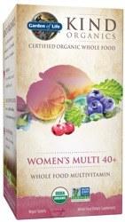 Garden of Life Kind Organics Women's Multi 40+ Whole Food Multivitamin, 60 vegan tablets