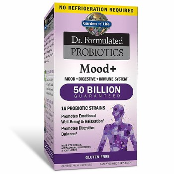Garden of Life Dr. Formulated Probiotics Mood+, 60 vegetarian capsules