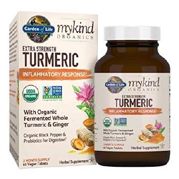 Garden of Life Mykind Extra Strength Turmeric, 60 tablets