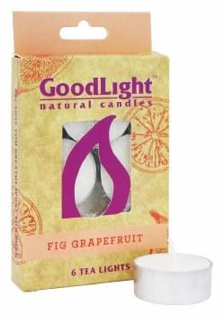 GoodLight Natural Candles Fig Grapefruit Tea Lights, 6 count