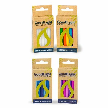 GoodLight Natural Candles Pink & Purple Birthday Candles, 12 ct.