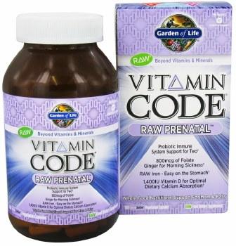 Garden of Life Vitamin Code Raw Prenatal, 180 vegie caps