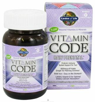 Garden of Life Vitamin Code Raw Prenatal, 30 vegie caps