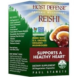 Fungi Perfecti Host Defense Reishi, 30 vegetarian capsules